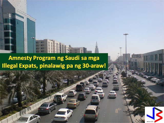 The Kingdom of Saudi Arabia has given a month or 30 days extension to all illegal expatriate, including Filipinos to leave the country without fines or jail terms, under the Amnesty Program.  The 90 days amnesty period has started last March 29 and ended last June 24 but the Directorate of Passport announced that it is extended for a month.  The extension has already started last June 25 (Shawwal 1). It means, all who violates Saudi law, regardless of nationality can leave Saudi voluntarily.
