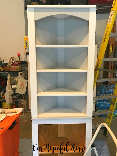 cabinet shelves paint transformaion