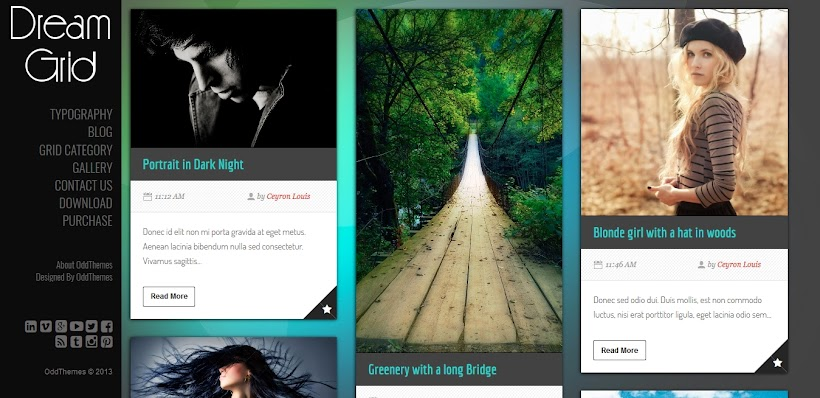 DreamGrid Free Blogger Template
