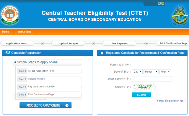 CTET Sep 2016 Notification Apply Online @ctet.nic.in