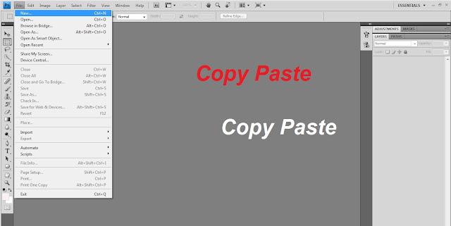 Cara Melakukan Copy Paste Foto dan Gambar ke Photoshop Untuk di Edit