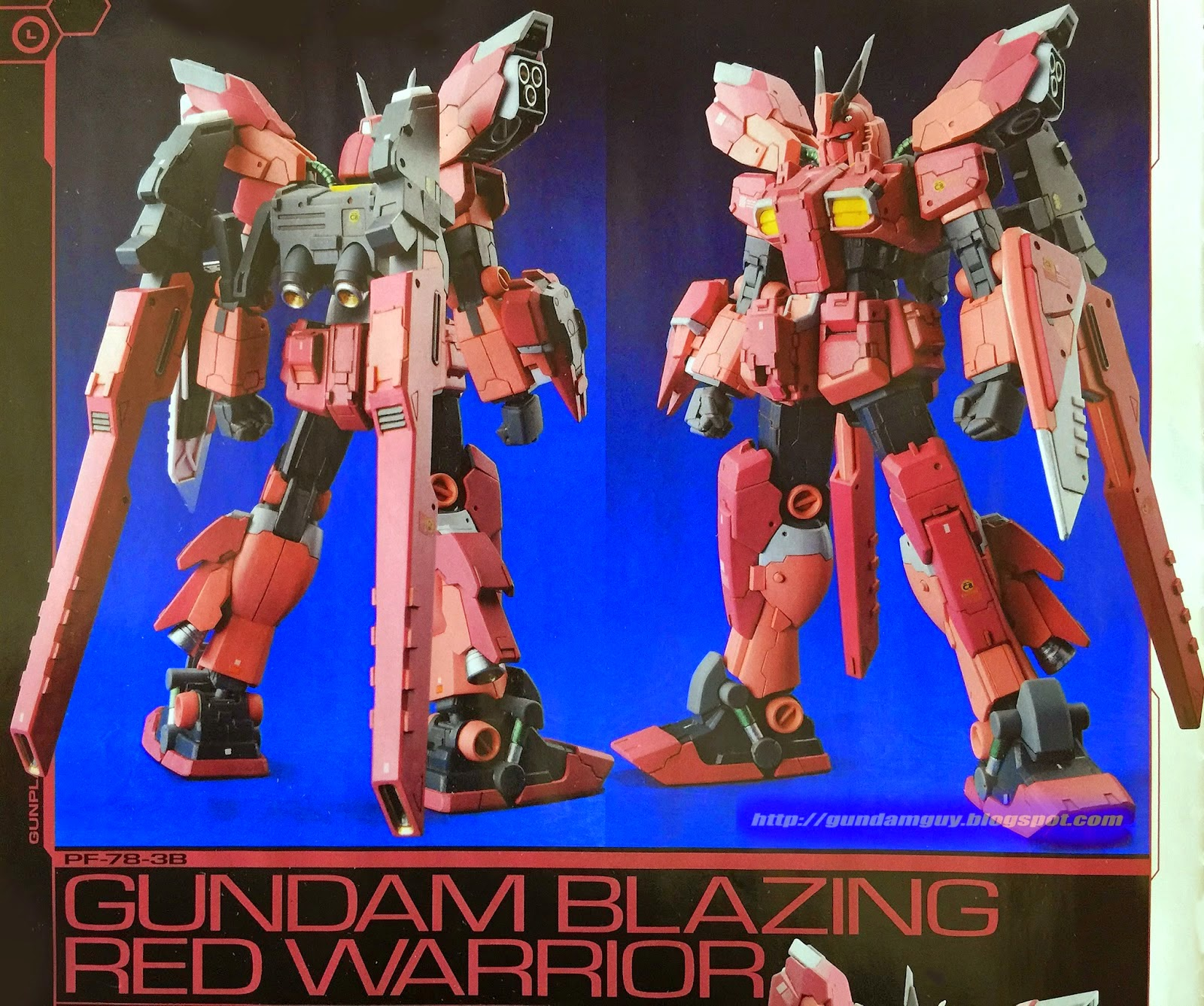 The Blazing Star Warriors: Gundam Family: 1/144 Gundam Blazing Red Warrior Custom Build