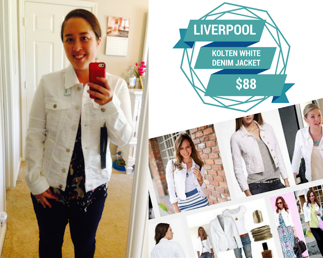 Liverpool Kolten White Denim Jacket