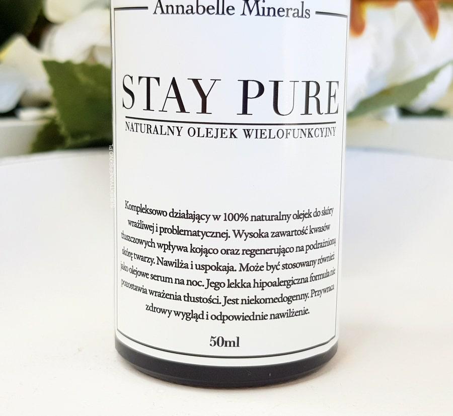 Annabelle Minerals Stay Pure olejek wielofunkcyjny - zastosowanie i sposób użycia