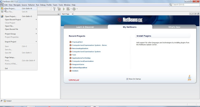 NetBeans IDE New Project