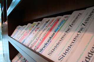 Periodicals in several languages are available in Emirates First and Business Class lounges