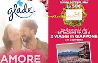 Logo Concorso ''Vinci il Giappone con Glade'' e buoni Interflora da 50€