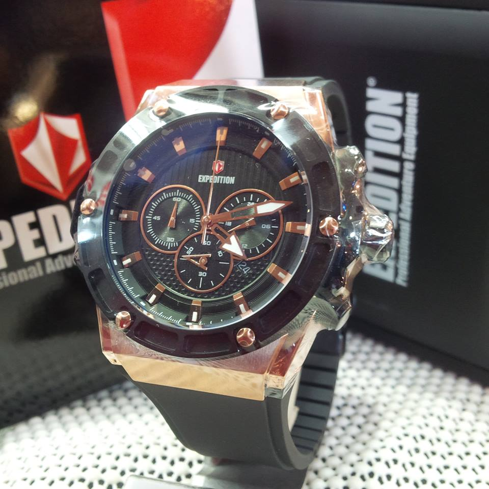 Harga Jual Jam Tangan Expedition Master Casio G Shock Pria 6631 Black Orange Triple Time Original E 6397 M Rose Gold Rubber