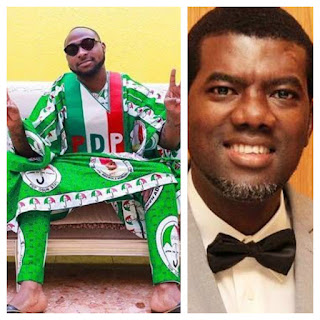 'I sincerely advise PDP to make Davido a member of the Presidential Campaign Council' - Reno Omokri