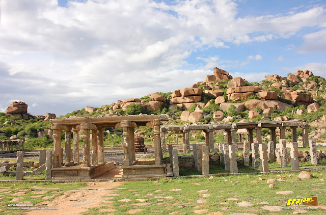 Pushkarni, a sacred tank in Vitthala temple bazaar at Hampi