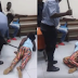 Watch Police man beat-up a grown woman on the buttocks