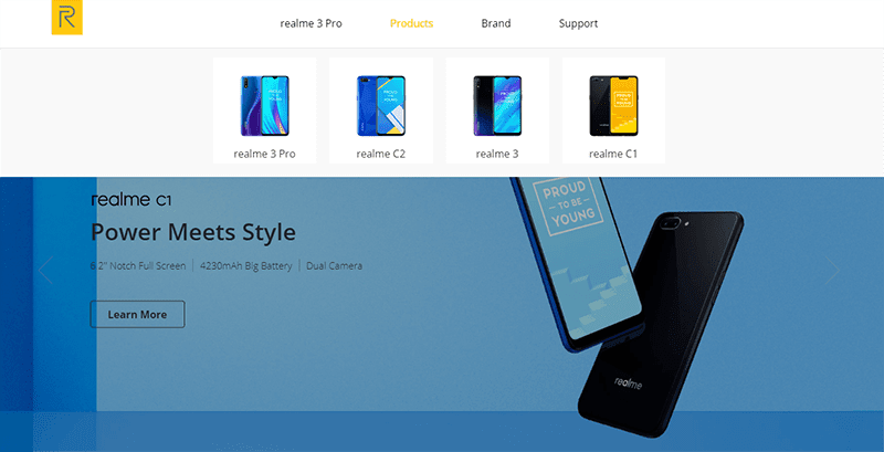 Both the realme 3 Pro and C2 are listed in the company's local site