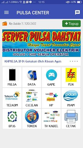 Tampilan Aplikasi KHPulsa Center