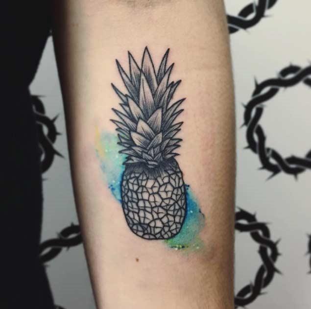 tatuagens de abacaxi