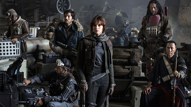 image of the primary cast of Rogue One
