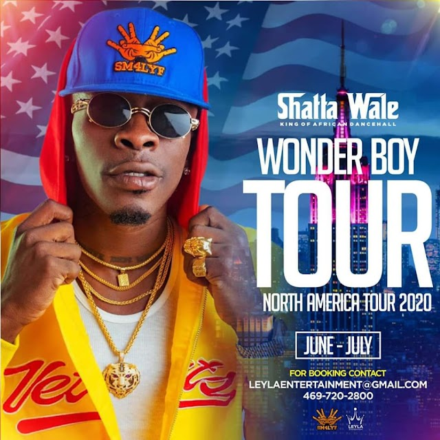 Shatta wale announces his American tour for 2020