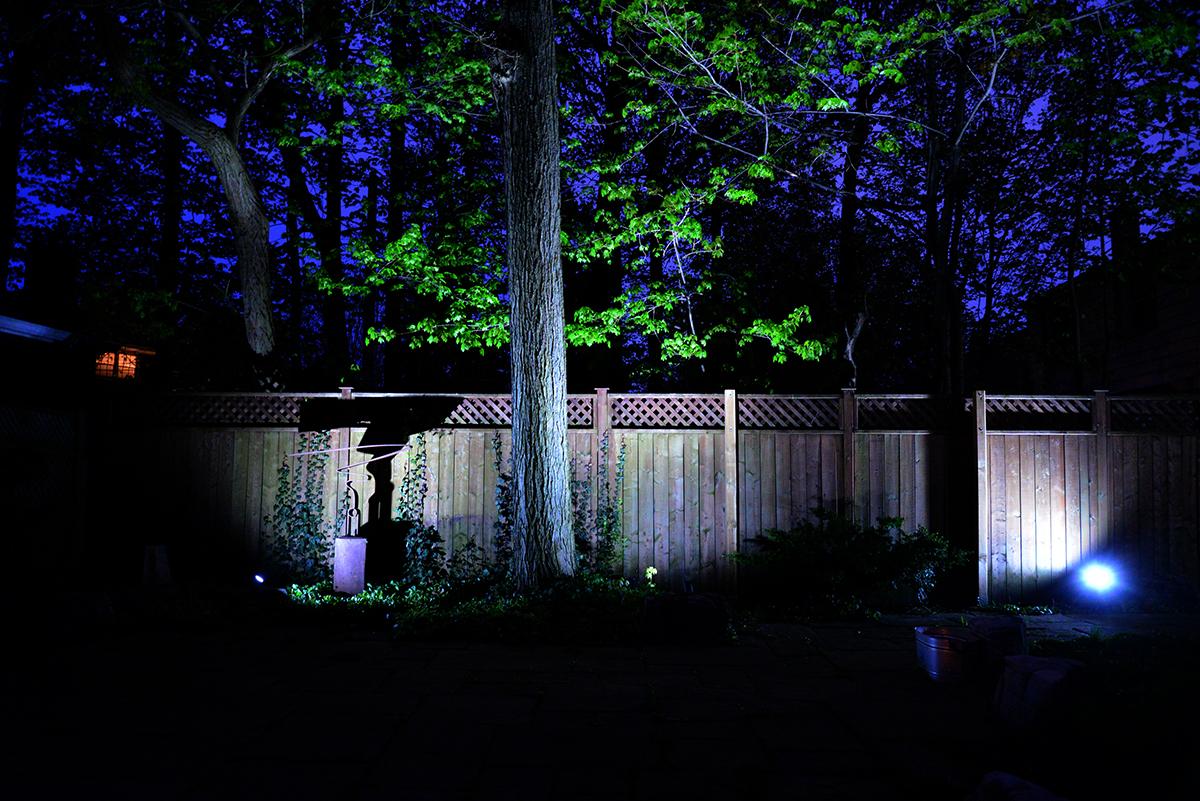 Philips Hue smart outdoor lighting, Lily outdoor spotlight, Hue outdoor motion sensor