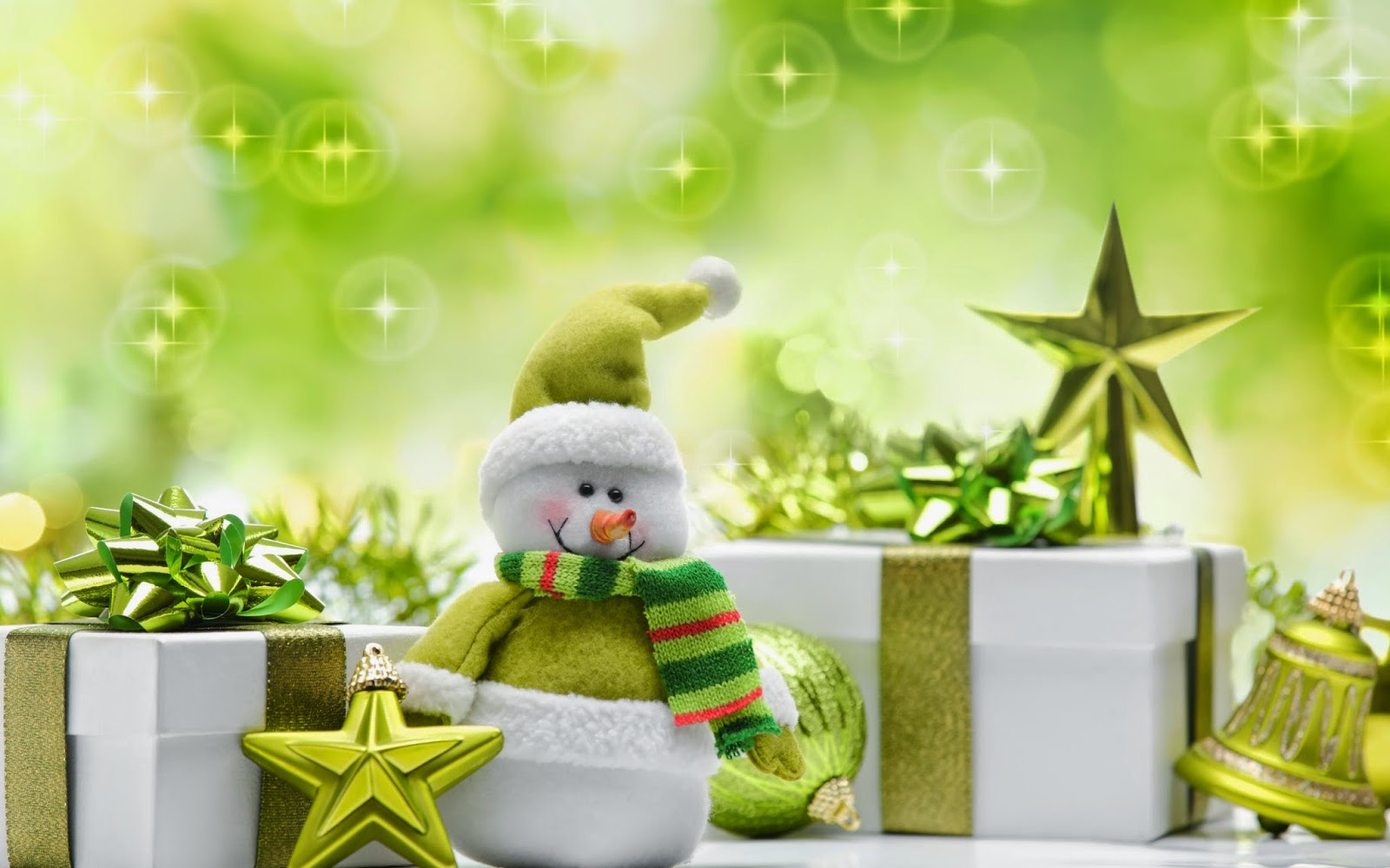 Green-theme-snowman-dresses-with-gifts-bells-background-HD-wallpaper-image.jpg