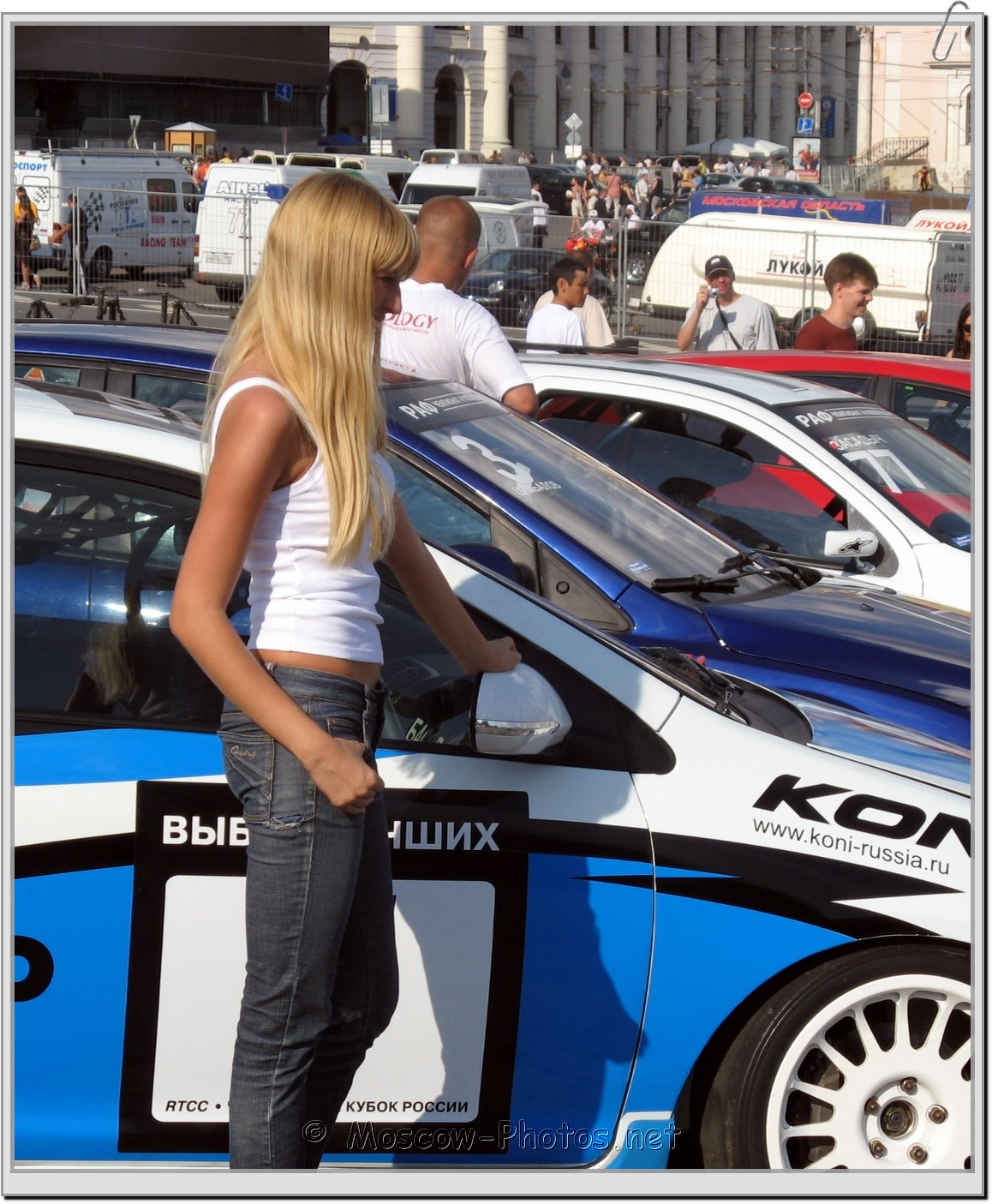 Sexy Moscow Blonde Girl at BavariaCity Racing 2008