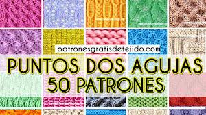 50 patrones de puntos dos agujas