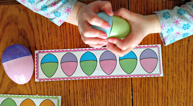 Easter Egg Matching and Pattern Activities | Apples to Applique