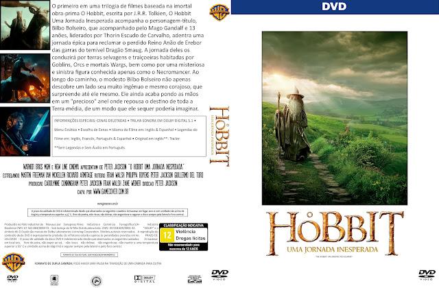 Capa DVD O Hobbit Uma Jornada Inesperada [Coleção]