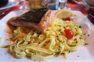 Salmon and Pasta at Le Suffren