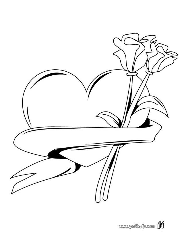 Asombroso Te Amo Corazón Para Colorear Motivo - Dibujos Para ...
