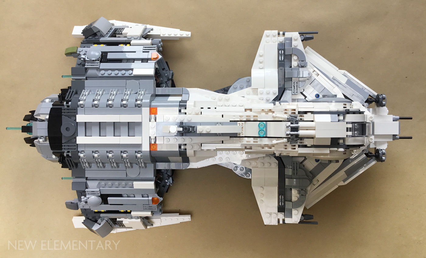 Alt Star Wars: Kev Levell's mothership and fighter | New Elementary