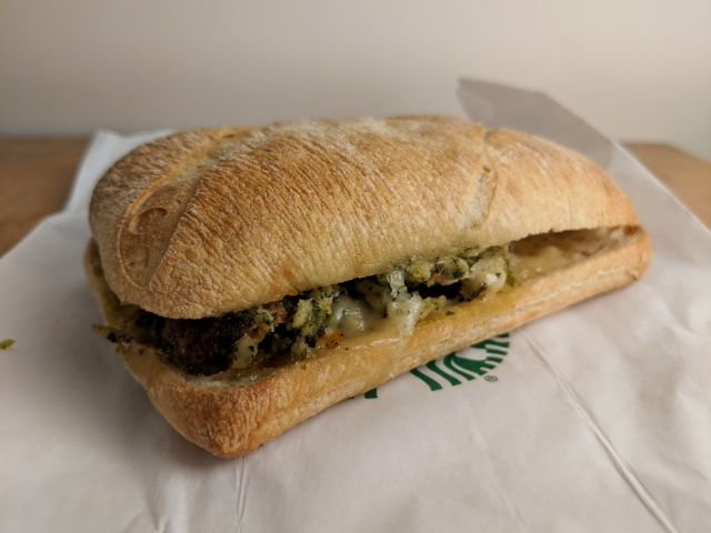 Review: Starbucks - Herbed Chicken and Manchego Cheese Sandwich