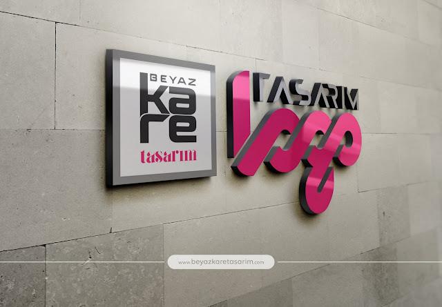 3D logo tasarımı duvar plastik
