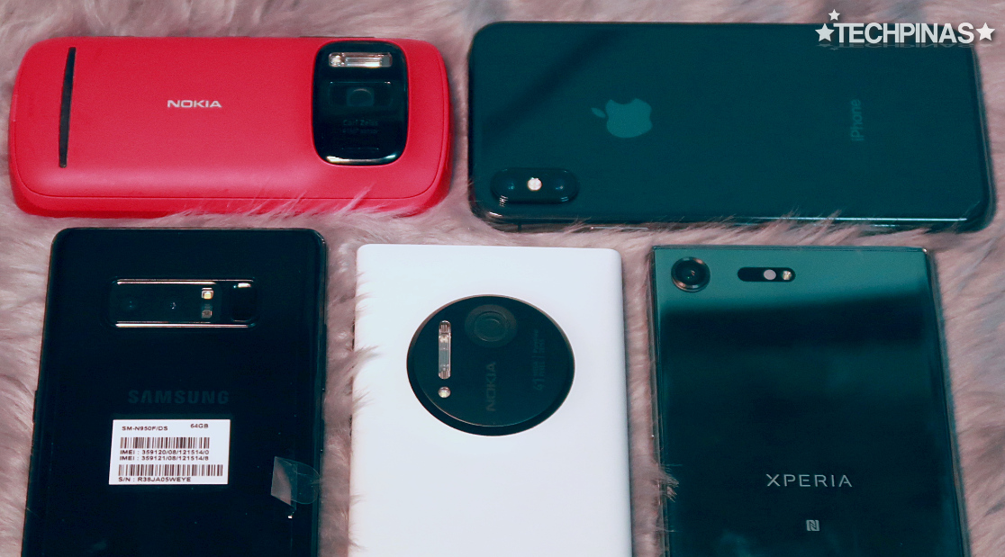 Nokia 808 PureView vs Apple iPhone X vs Nokia Lumia 1020 vs Sony Xperia XZ Premium vs Samsung Galaxy Note8