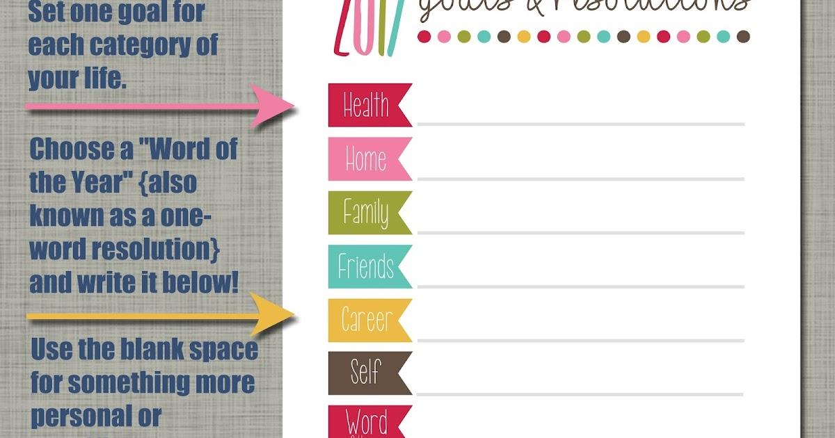 The Polka Dot Posie: 2017 Goals & Resolutions Printable!