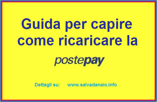 come ricaricare postepay
