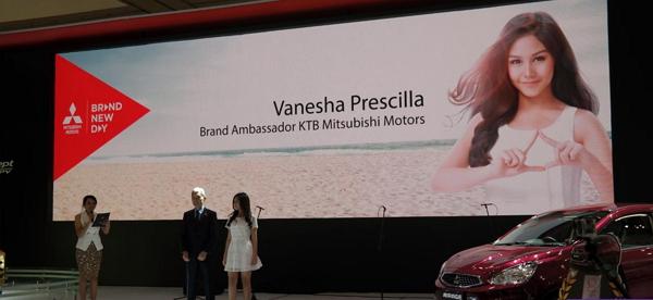 Artis Cantik Vanesha Prescilla Di Daulat Jadi Brand Ambasador Mitsubishi