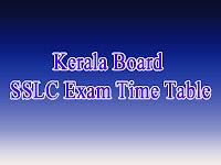 Kerala Board 10th Exam Date Sheet 2018