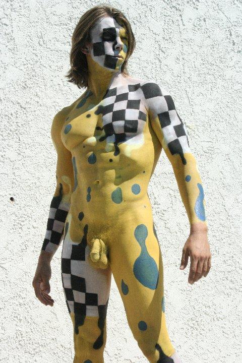 nude paint men