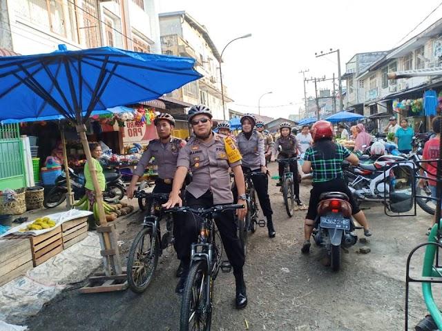 Wakapolres Tanjungbalai Pantau Sitkamtibmas Dengan Patroli Bersepeda