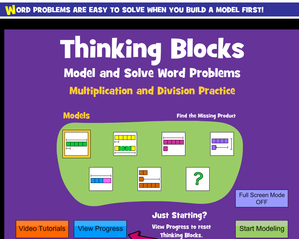 Forest North Library: Using Models to Solve Multiplication