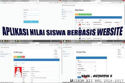 Program Website Nilai Siswa Dengan PHP Native dan MYSQL