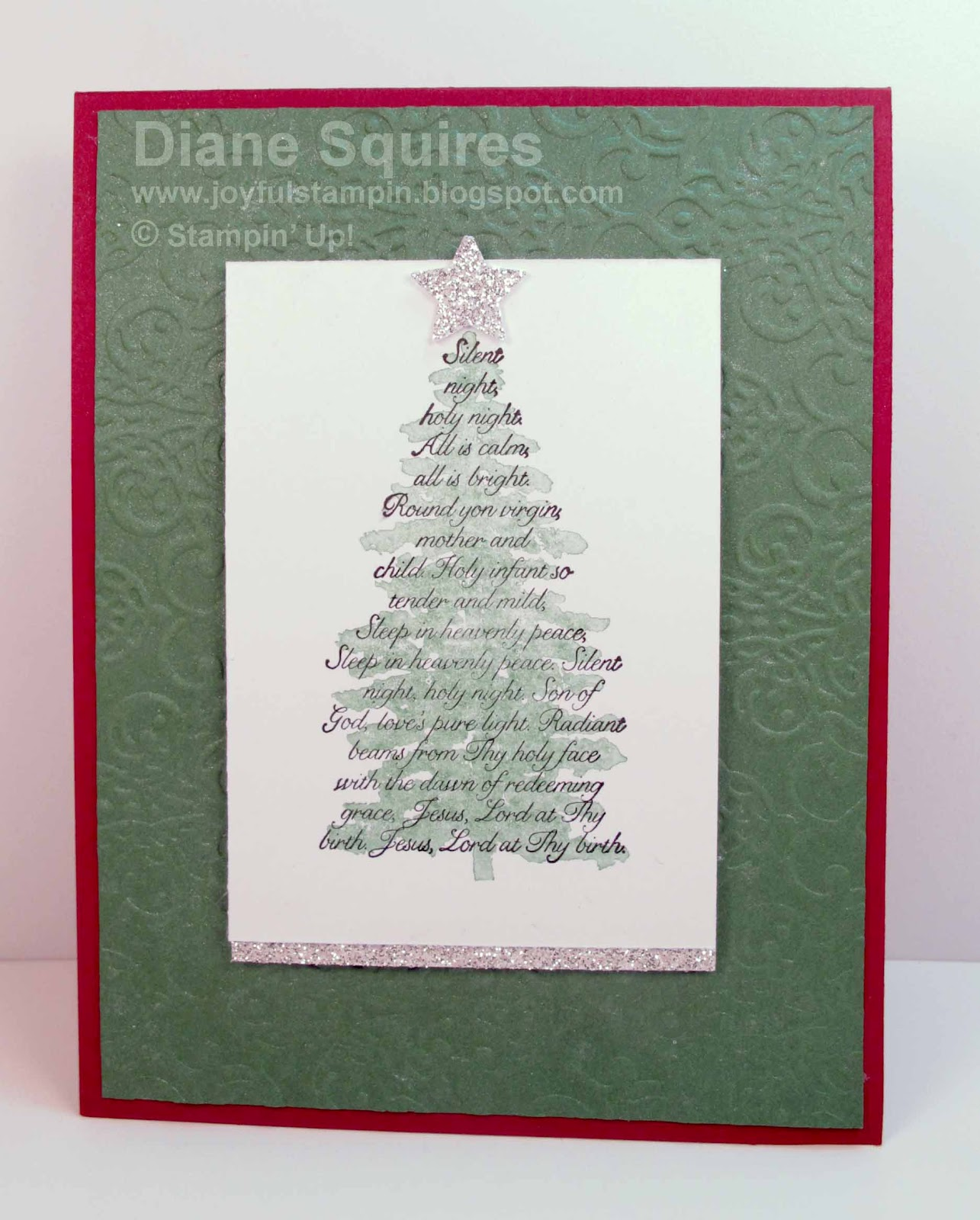 Joyful Stampin: Evergreen Stampin' Up! Christmas Card