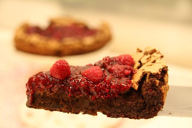 Tarta De Chocolate Frambuesas (sin Harina )