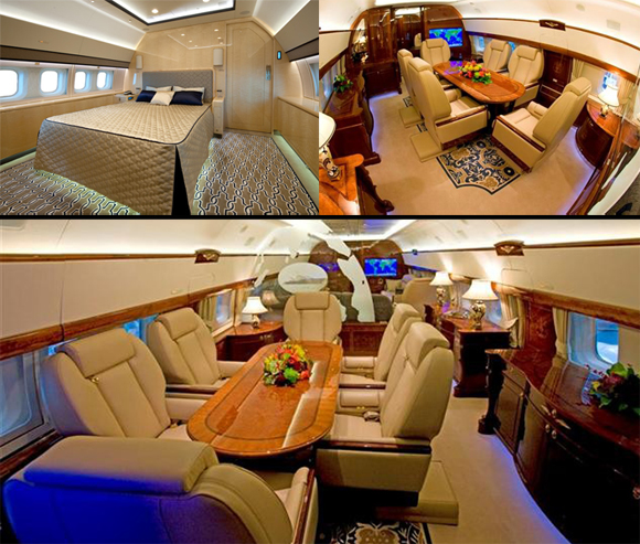 interior del Boeing Business Jet