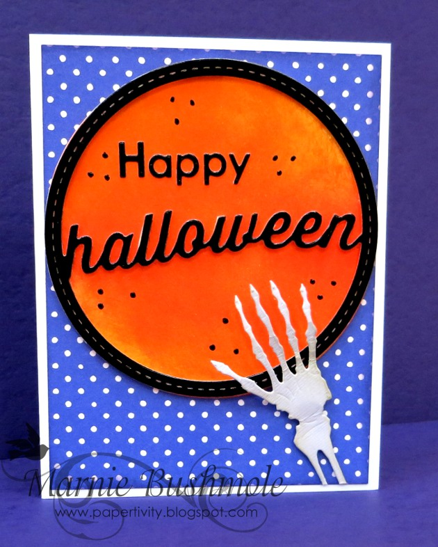 Stitched Halloween Circle Frame