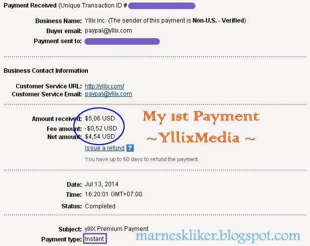 Payout Perdana dari Yllix.com