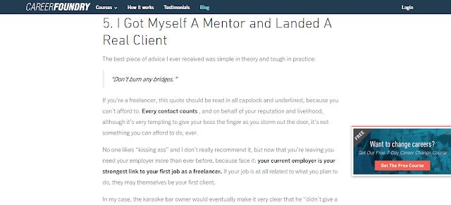 Fungsi mentor dalam dunia freelancer