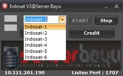 Injek Indosat Update Server bayu