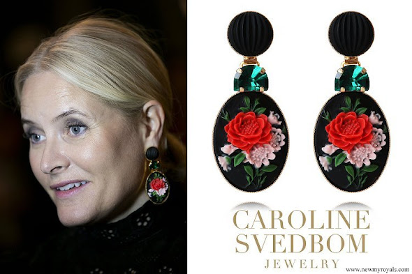 Crown Princess Mette-Marit jewelry Caroline Svedbom Rosa Earrings