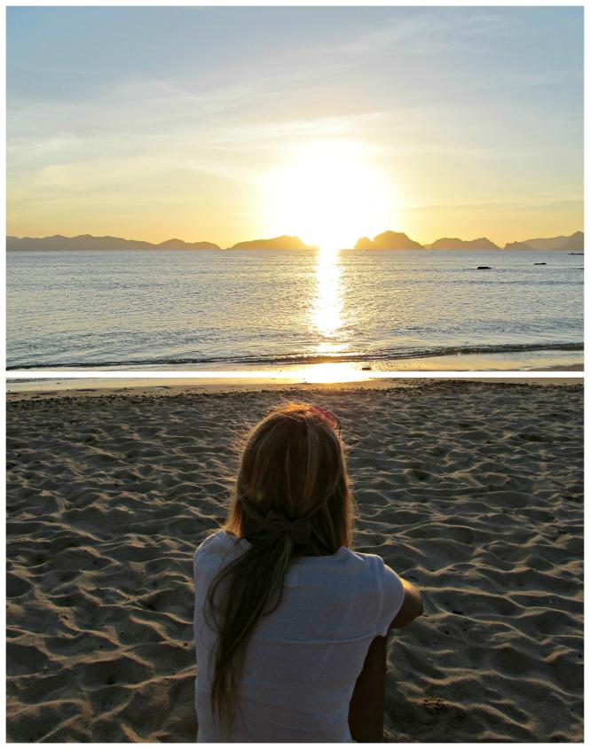 Watching the Beautiful View of El Nido Beach