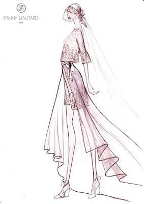 robe de mariée#création et dessin#Fanny Liautard Paris